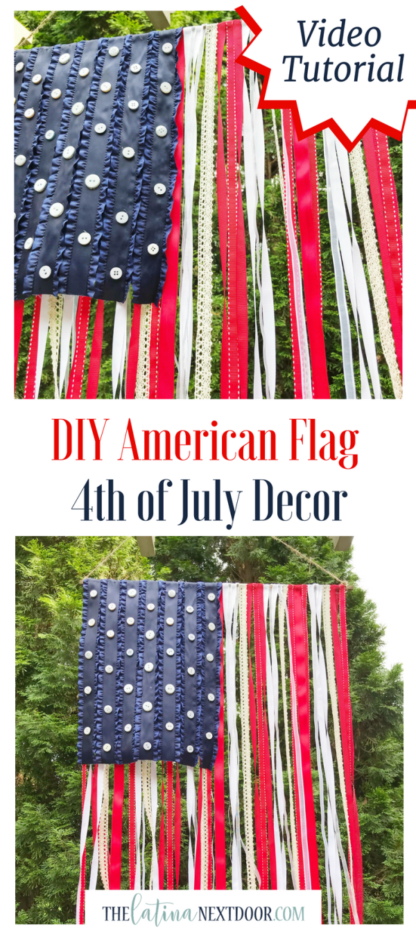 DIY American Flag Long Pin DIY American Flag for 4th of July