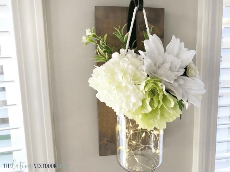 DIY Mason Jar Floral Sconce 16 DIY Mason Jar Floral Sconce
