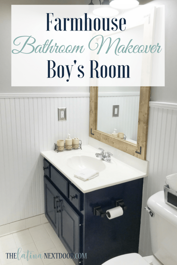 Farmhouse Bathroom Makeover Farmhouse Bathroom Makeover