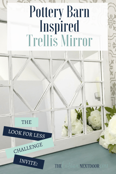 Pottery Barn Inspired Mirror DIY