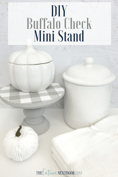 IY Buffalo Check Mini Stand for Fall