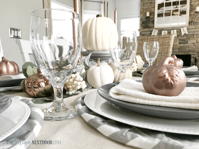 Neutral Farmhouse Fall Tablescape 10 Neutral Farmhouse Fall Tablescape