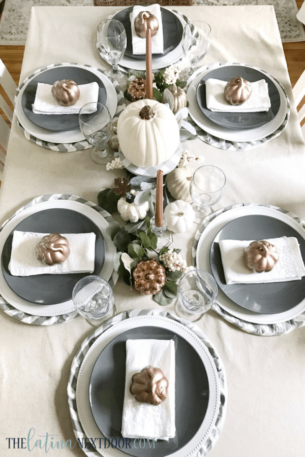 Neutral Farmhouse Fall Tablescape 4 Neutral Farmhouse Fall Tablescape