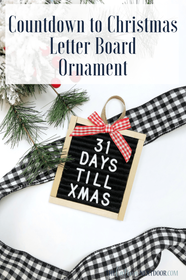 Countdown to Christmas Letter Board Ornament Pin DIY Letterboard Christmas Countdown Ornament