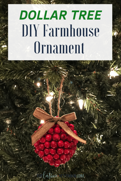 DIY Dollar Tree Farmhouse Ornament