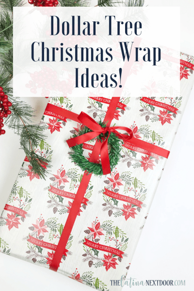 Dollar Tree Christmas Gift Wrap Ideas