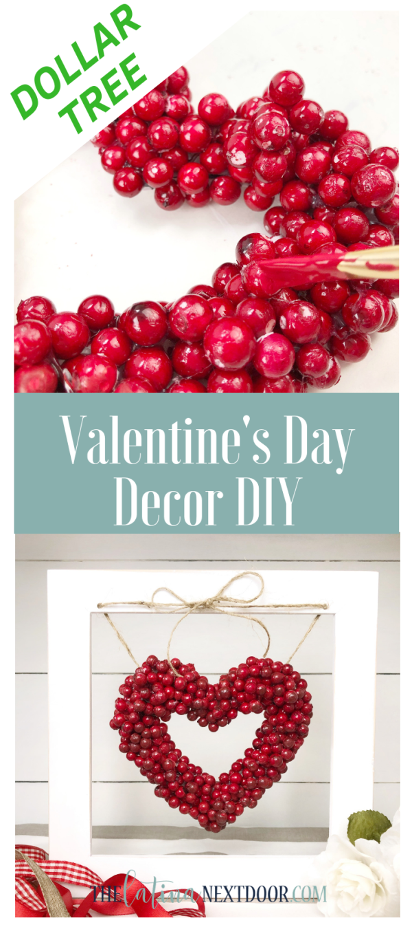 DIY Dollar Tree Valentines Day Decor Long Pin DIY Dollar Tree Valentines Day Decor