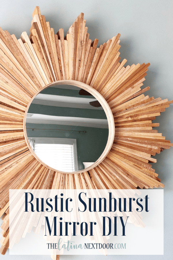 Rustic Sunburst Mirror DIY Rustic Sunburst Mirror DIY