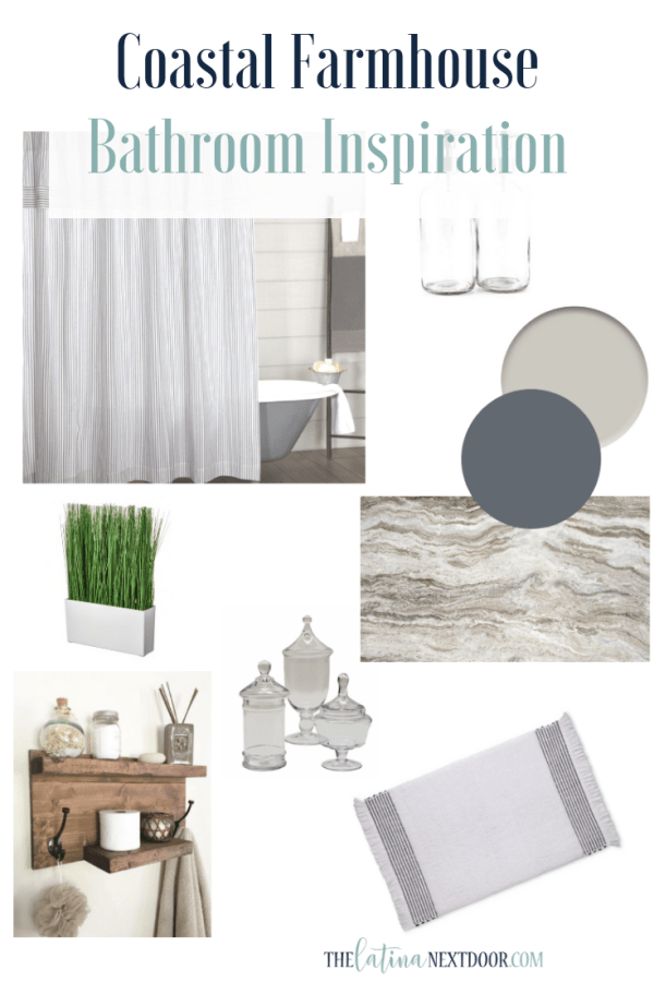 Coastal Farmhouse Bathroom Inspiration PIn Coastal Farmhouse Bathroom Inspiration and BEFORE