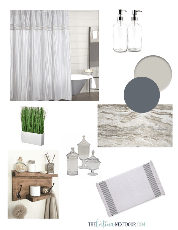 Coastal Farmhouse Bathroom Inspiraton DIY Farmhouse Shower Curtain
