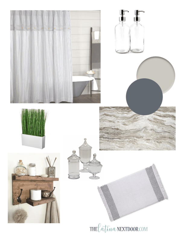 Coastal Farmhouse Bathroom Inspiraton Coastal Farmhouse Bathroom Reveal
