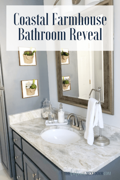 Coastal Farmhouse Bathroom Reveal