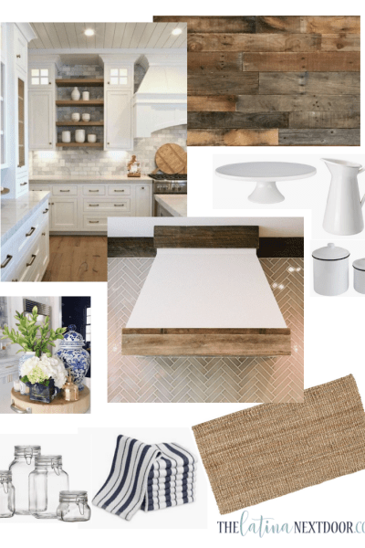 Farmhouse Kitchen Makeover BEFORE and Vision Board