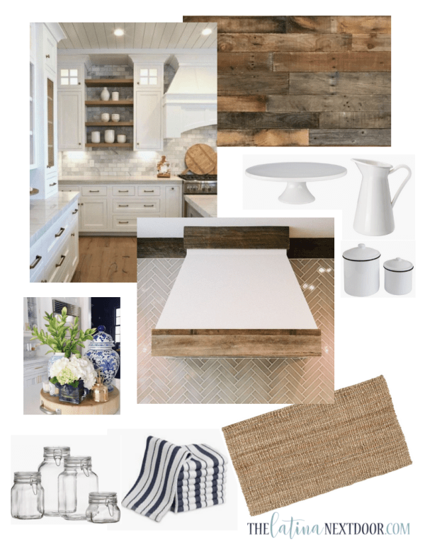Farmhouse Kithen Makeover Inspiration Board Farmhouse Kitchen Progress