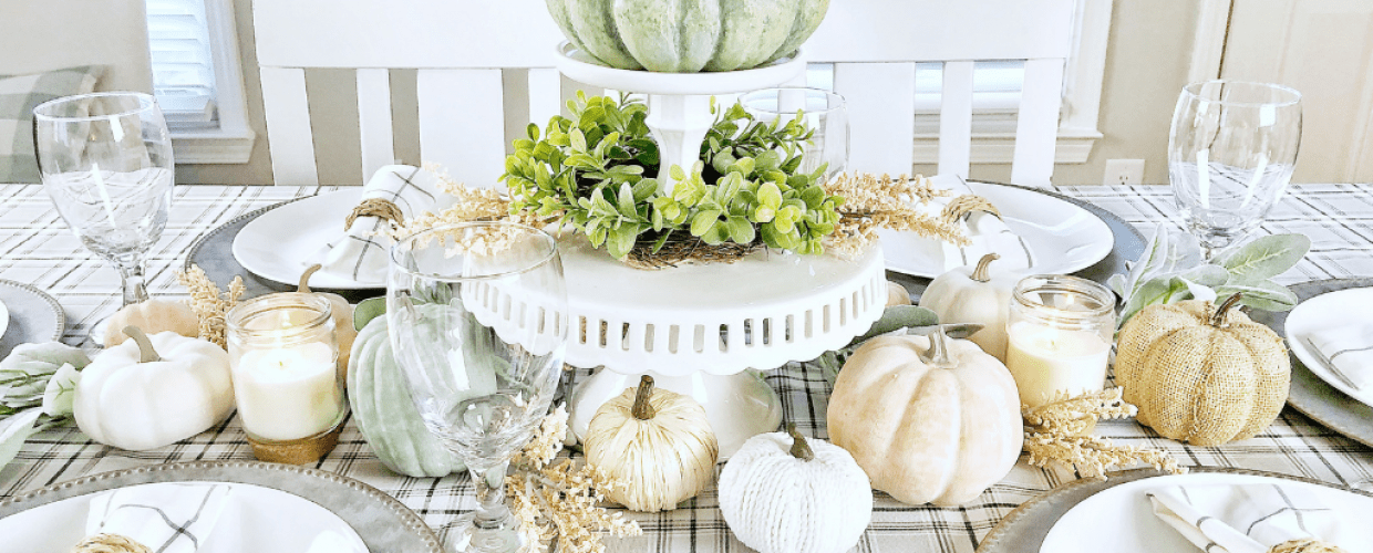 Feminine Fall Farmhouse Tablescape