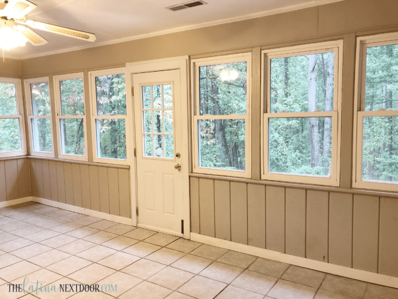 Coastal Farmhouse Sunroom Before 3 We Painted The Sunroom