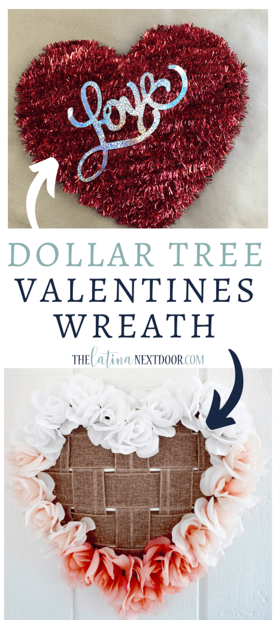 Dollar Tree Valentines DIY WreatH LP Dollar Tree Valentines DIY Wreath