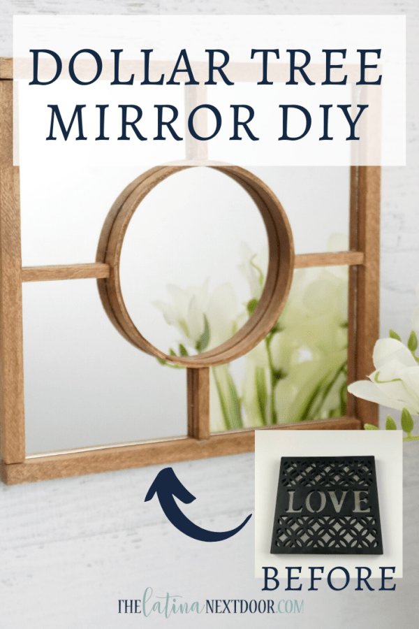 Dollar Tree Mirror DIY Pin Dollar Tree Mirror DIY