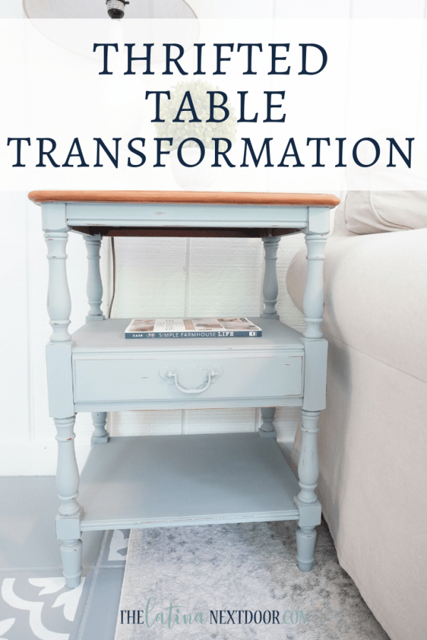 Thrifted Table Transformation Pin Thrifted Table Transformation