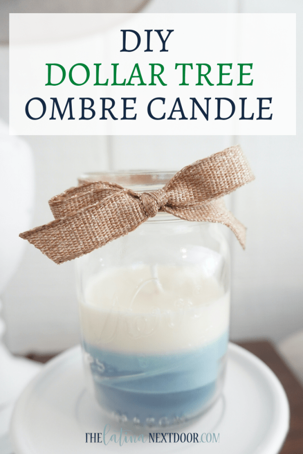 DIY Dollar Tree Ombre Candle DIY Dollar Tree Ombre Candle