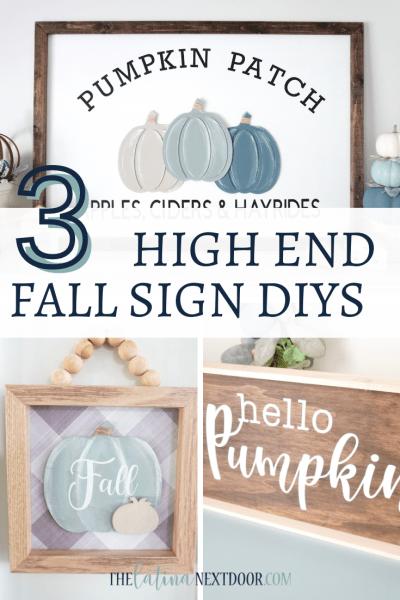 3 High End Fall Farmhouse Signs