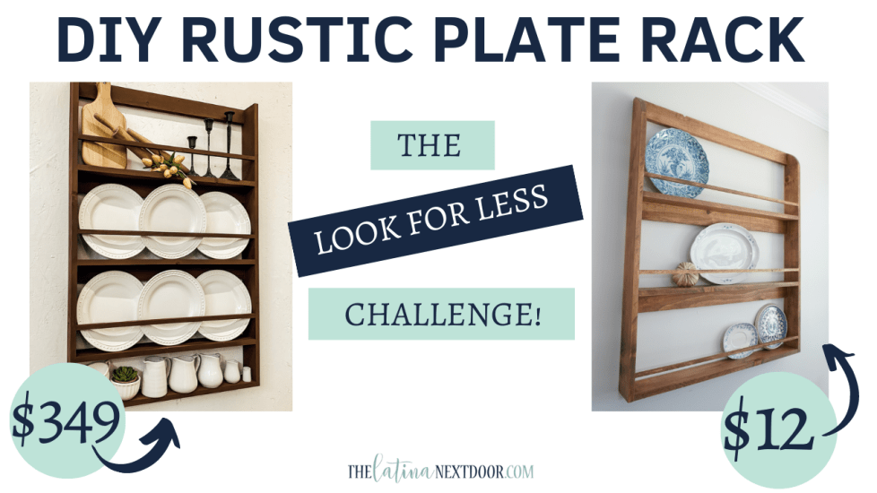 L4L September 2020 Rustic Plate Rack DIY Farmhouse Rustic Plate Rack
