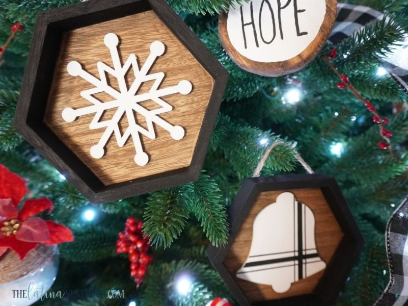 DIY Farmhouse Christmas Ornaments 16 DIY Farmhouse Christmas Ornaments
