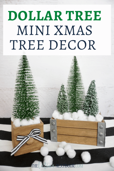 Dollar Tree Mini Christmas Tree Decor