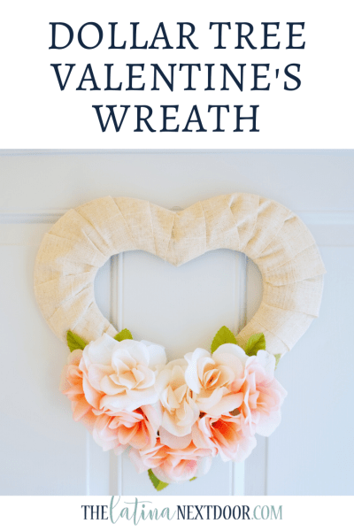Dollar Tree Valentines Day Wreath