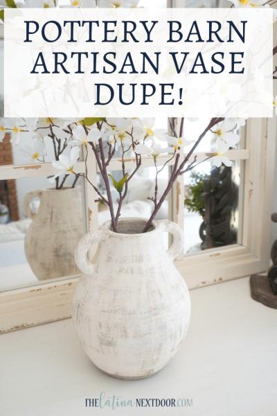 Pottery Barn Artisna Vase Dupe