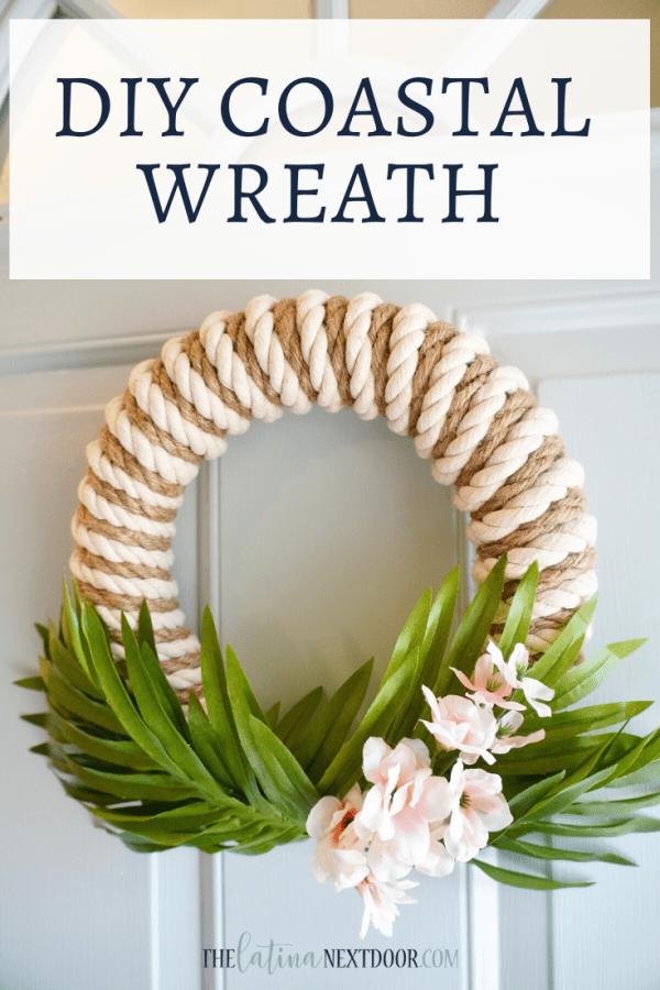 DIY Coastal Wreath Coastal Rope Wreath DIY