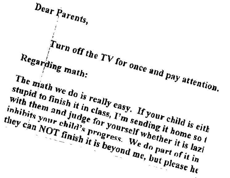 School Principal Suspended for Joke Letter Calling