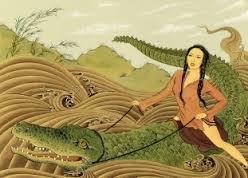 woman on croc