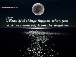 distance yourself from the negative