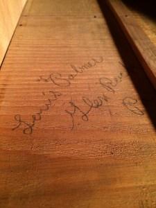 signed dresser