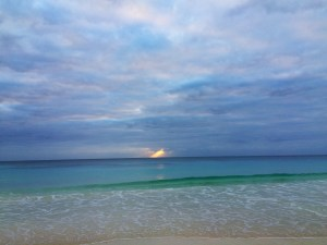sunrise in tulum