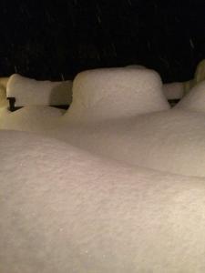 nightime spring snow 04.16
