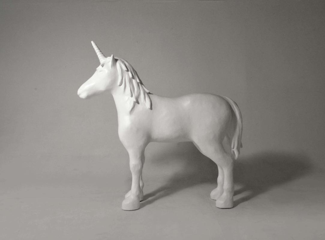 unicorn sculpture lauren walker