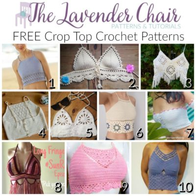 free crop top crochet