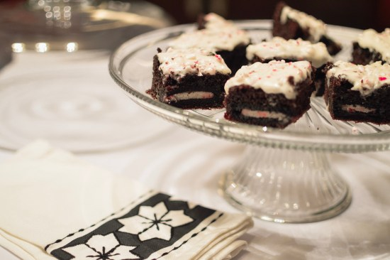 Oreo Stuffed Brownies With Peppermint Frosting