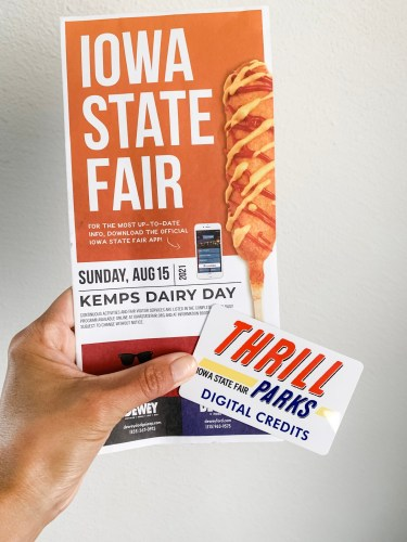 Reloadable Thrill card at the Iowa State Fair