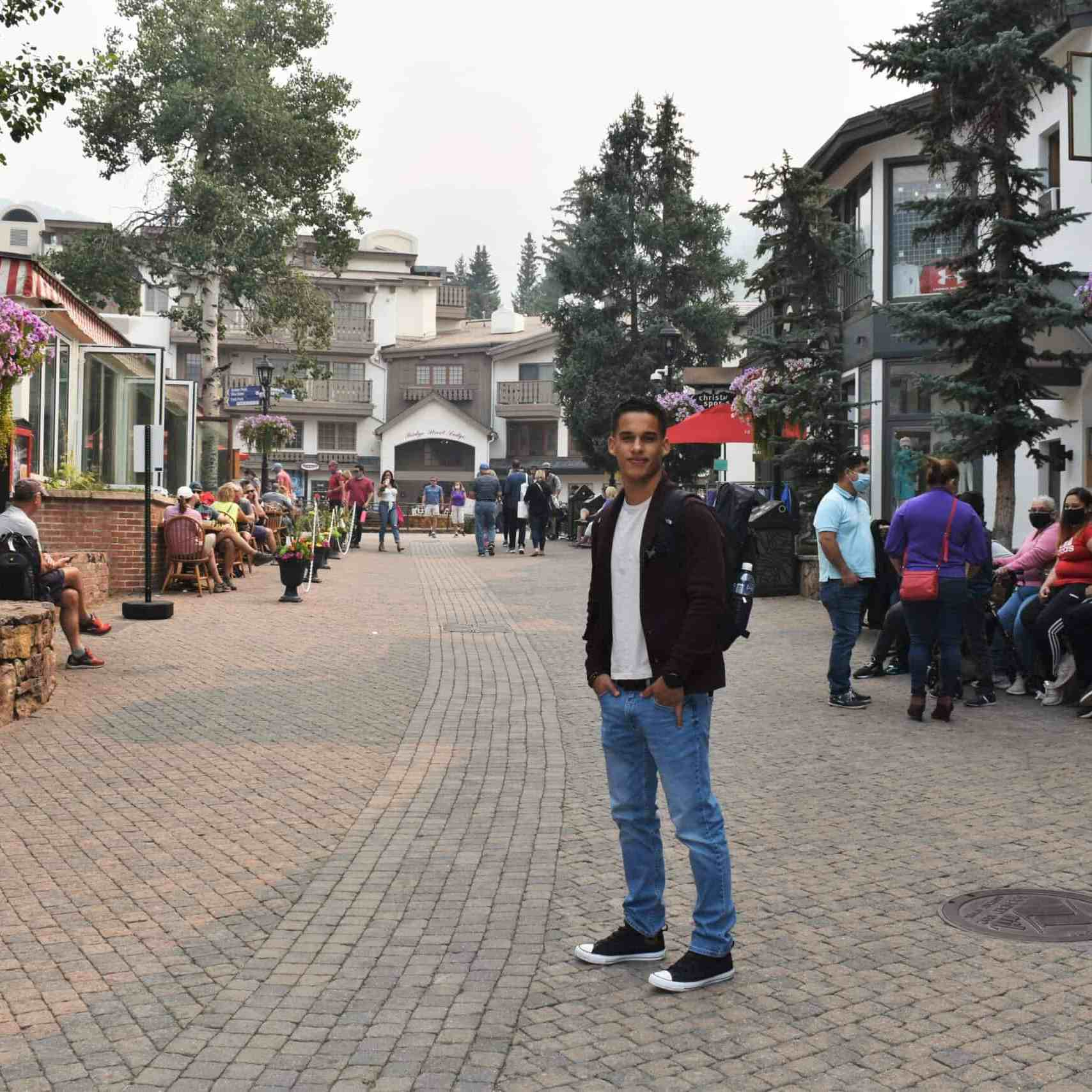 Walking around Vail Village
