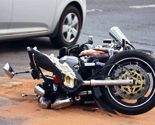 motor cycle accident