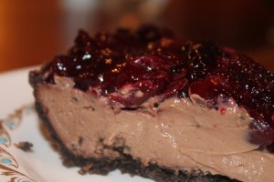 Chocolate Cherry Mousse Pie | The Lazy Vegan Baker