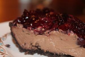 Chocolate Cherry Mousse Pie | The Lazy Vegan Baker