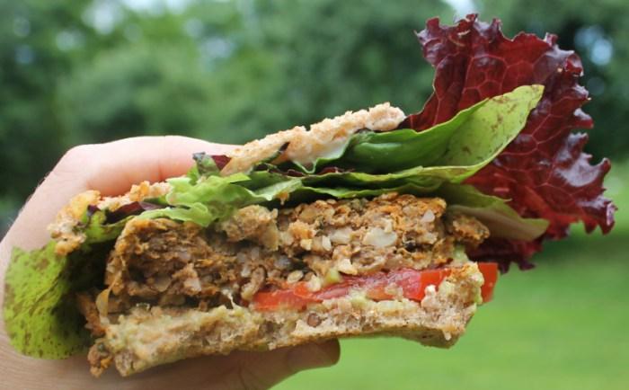Granola Crusted Sweet Potato Burger | The Lazy Vegan Baker