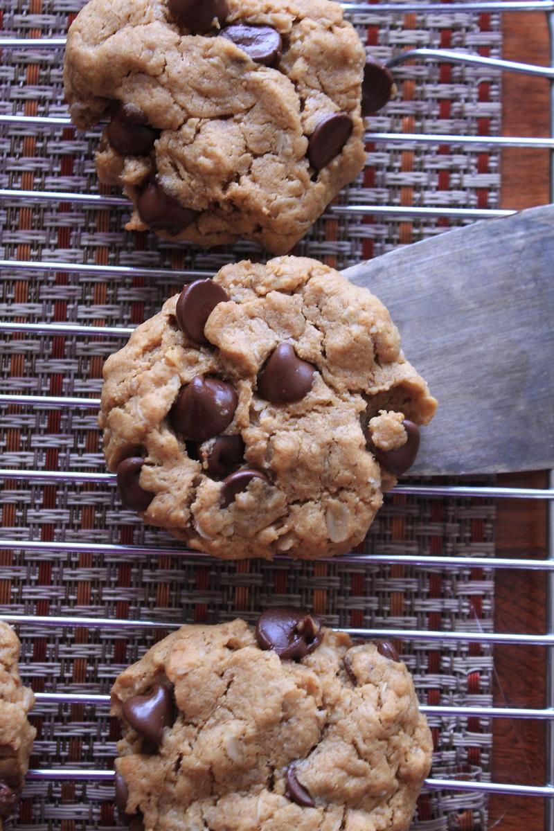 Aquafaba Peanut Butter Chocolate Chip Cookies