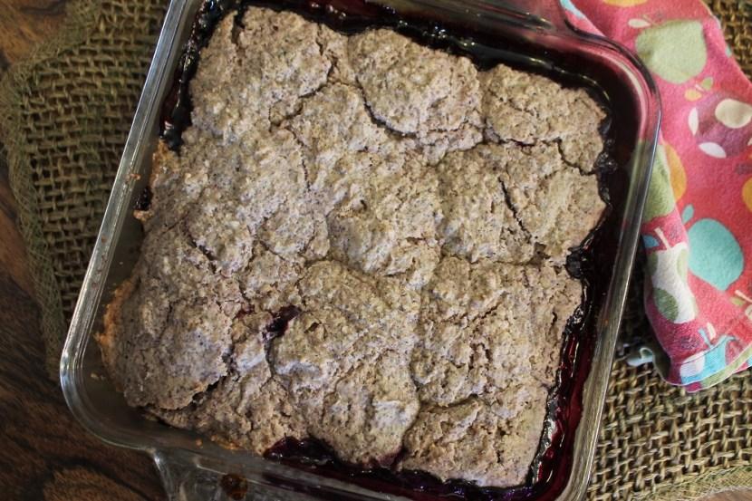 Cherry Blueberry Cornmeal Cobbler | The Lazy Vegan Baker