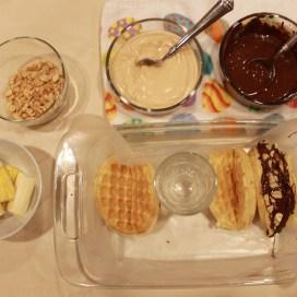 Chocolate Peanut Butter Banana Waffle Tacos   The Lazy Vegan Baker