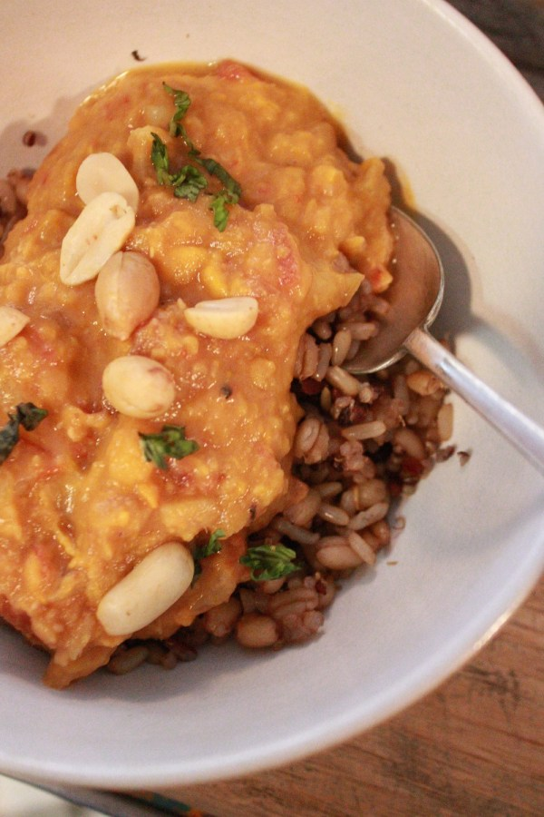 Simple and Hearty Sweet Potato Peanut Stew (Slow Cooker Recipe) | The Lazy Vegan Baker